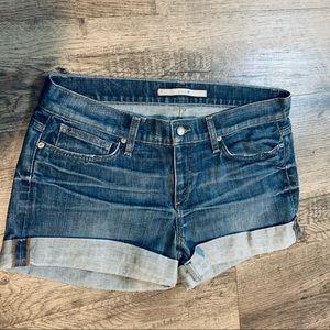 Joes Stretch Cuffed Denim Shorts Size 28